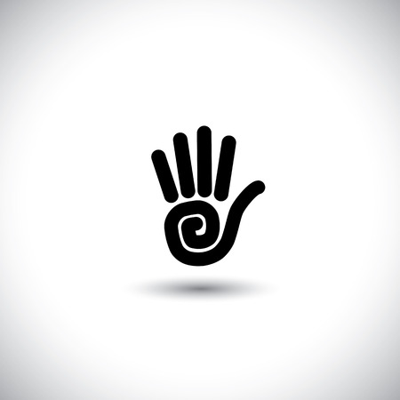 stop hand: stop hand sign vector line icon