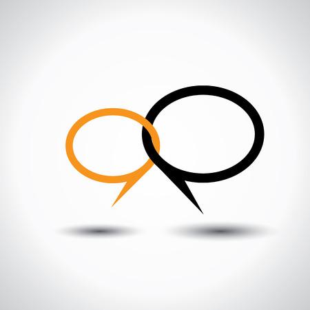 verlobung: chatten oder sprechen Symbol oder Sprechblase
