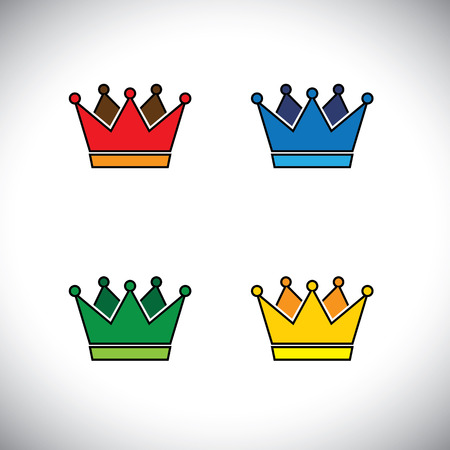greatness: shining golden crown concept icon.