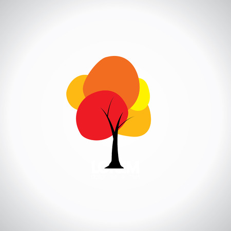 splashy: colorful unique tree with vibrant leaves