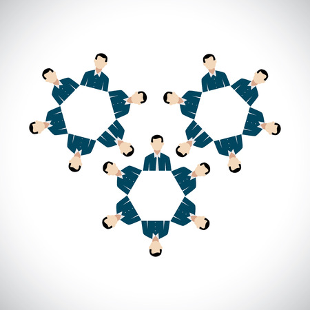 oneness: concept of office employees as cogwheels or gear wheels