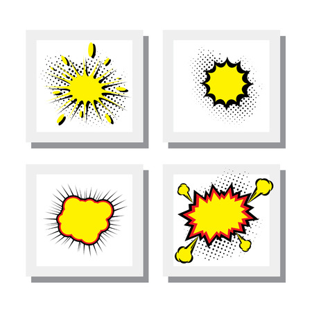 emphatic: empty template for explosion steam bubble pop-art Illustration