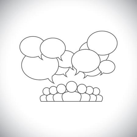 engagement: line design vector Illustration