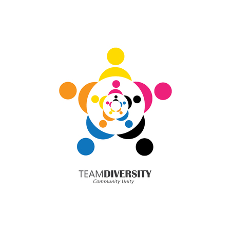 bonding: abstract people team & teamwork - vector logo icon. this icon can also represent friends together, employees union, kids or children playing, unity, togetherness, community, bonding, relationship