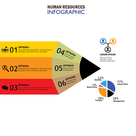 layoffs: human resources concept infographic vector icon. this graphic also represents hiring, choice of candidates, search for the best, attrition, lateral recruitment, layoffs, trainees, staff turnover