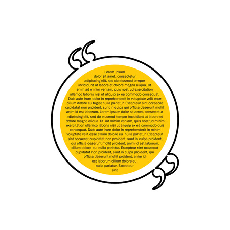 chat box: quote text circular bubble vector graphic design using black line. also represents chat box, message dialogue box, interaction, etc