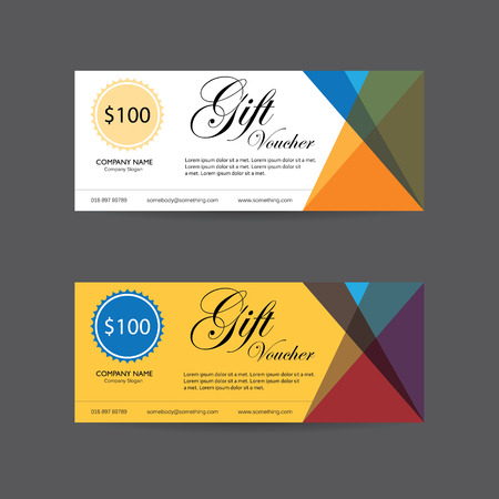gift voucher vector template design with clean and modern pattern