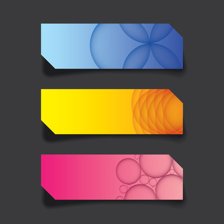 web banner: vector graphic of web banner, header layout template, colorful creative cover