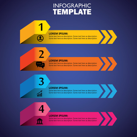 template: infographic design template and marketing vector icons. this business concept has 4 options, choices, steps or processes and can be used for workflow layout, diagram, number options, web design