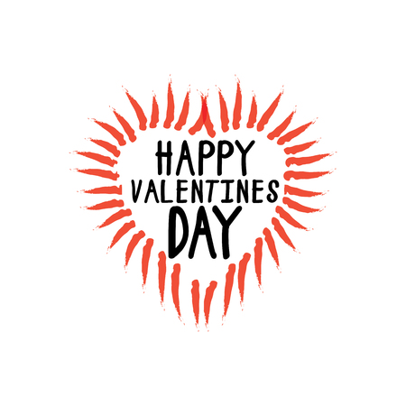 beau: happy valentines day vector graphic with handwritten love or heart symbol. this graphic can be used for greeting cards, posters, mailers, promotions, banners for the 14 february event
