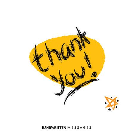 agradecimiento: gracias palabras escritas a mano de gr�ficos vectoriales. que puede ser utilizado para le agradece felicitaciones, mensajes de agradecimiento, mensajes de agradecimiento, tarjetas de agradecimiento, expresando gratitud