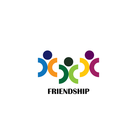 relationships human: friends and friendship vector graphic icon on white Illustration
