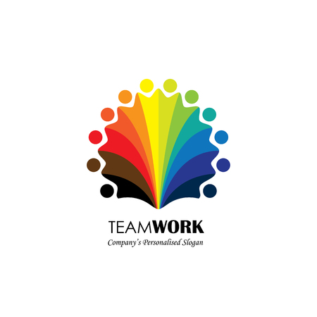 Team Teamwork Social Network Community Logo Vector Icon