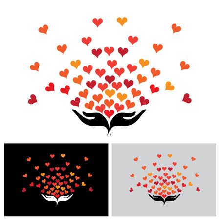 geef icon, geef pictogram vector, geef pictogram eps, geef pictogram teken, geef logo, gever logo, gever pictogram, hart embleem, hart pictogram, liefde pictogram, minnaar pictogram, liefde logo, het verspreiden van liefde pictogram, medeleven icon, empathie