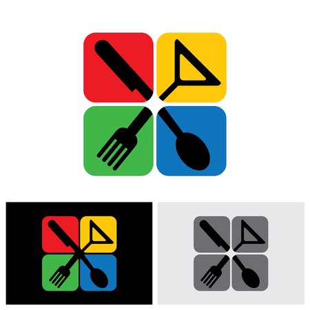 eatery: food icon, food icon vector, food icon eps 10, food icon sign, food logo, crestaurant logo, eatery icon, eatery logo, inn icon, hotel icon, joint icon, resort icon Illustration