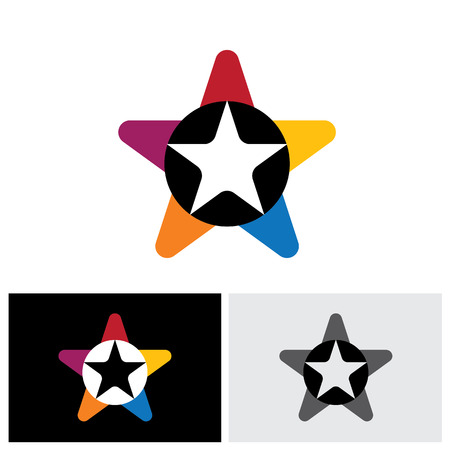 triad: star icon, star icon vector, star icon eps 10, star logo, star icon sign, stares icon, colorful star icon, united triangles icon, different star icon, unique star icon, unusual star icon