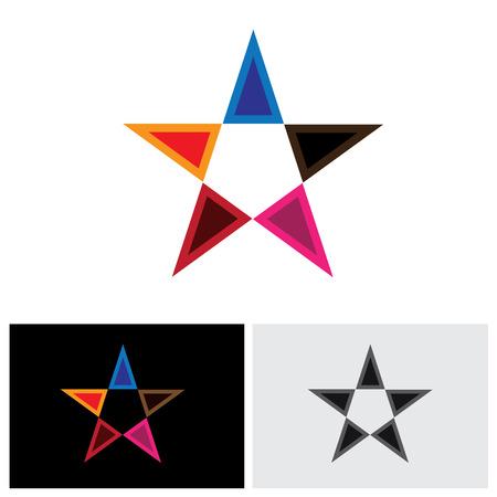 triad: star icon, star icon vector, star icon eps 10, star icon sign, stares icon, colorful star icon, united triangles icon, star logo icon