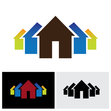 homestead: home icon, home icon vector, home icon eps 10, home icon logo, home icon sign, property icon, residential buildings icon, huts icon, house icon, dwelling icon, group icon, buy sell property icon