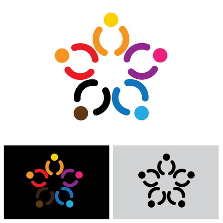 happiness people: people group icon, people group icon vector, people group icon eps 10, people group icon logo, people group icon sign, team icon, unity icon, joy icon, happiness icon, together icon, group icon Illustration