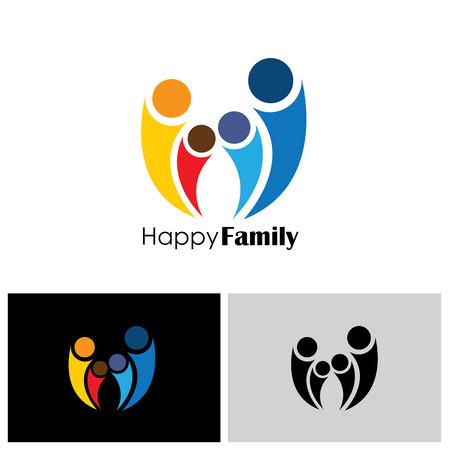icône de la famille, l'icône de la famille vecteur Vecteurs
