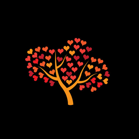 love tree icon, love tree vector, love tree , love tree icon sign, love tree , heart tree , heart tree icon, compassion tree , compassion tree icon, empathy tree icon, empathy tree Ilustrace