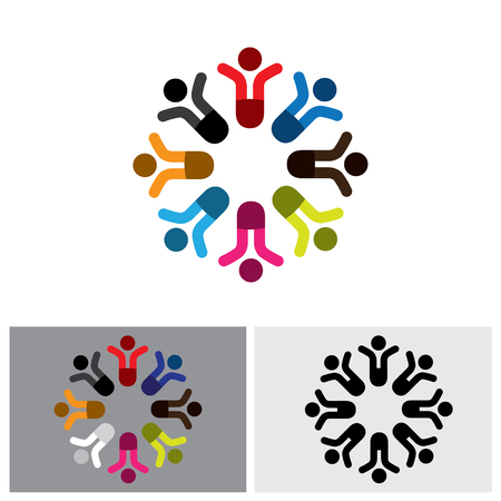 team group: kids icon, kids icon vector, kids icon , kids icon , kids icon sign, team icon, unity icon, alliance icon, happiness icon, together icon, group icon, people icon Illustration