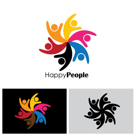 happiness people: people icon, people icon vector, people icon eps , people icon , people icon sign, team icon, friendship icon, unity icon, joy icon, happiness icon, together icon, group icon Illustration