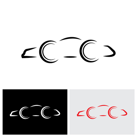 swanky: vector logo icon of a modern day car or automobile