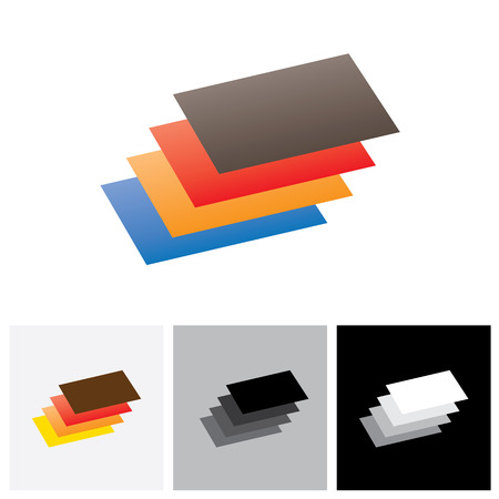 book pages: Symbol ( icon ) of empty book ( booklet ) with papers - vector icon. The illustration represents a colorful book with blank pages
