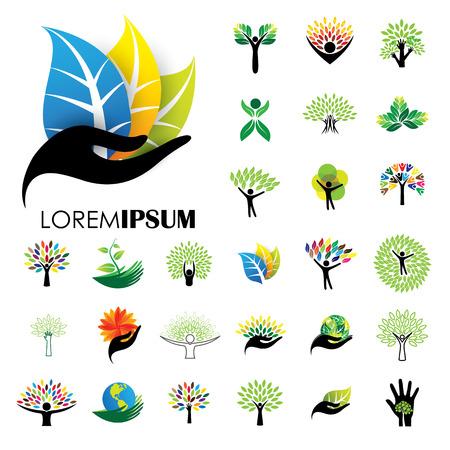 conservancy: human life icons Illustration