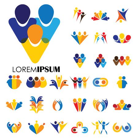 icon designs of people  イラスト・ベクター素材
