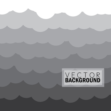 gradual: wave of clouds background in grey - vector graphic illustration