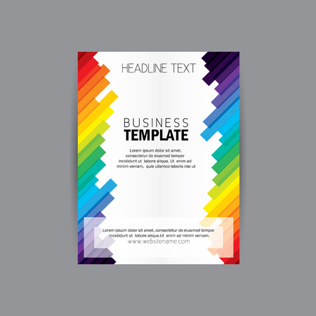 diagonal lines: vector business brochure flyer design layout template vector with diagonal lines. abstract, colorful and modern design vector template for advertising, media campaigns, etc Illustration