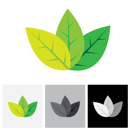 Green eco friendly concept  vector icon - abstract leaves.