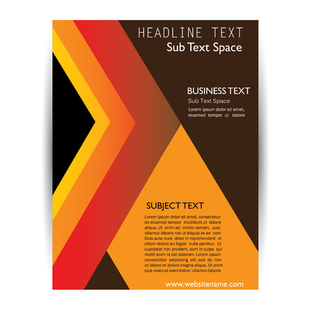 abstract template: vector business brochure flyer design layout. graphic template in A4 size. Illustration