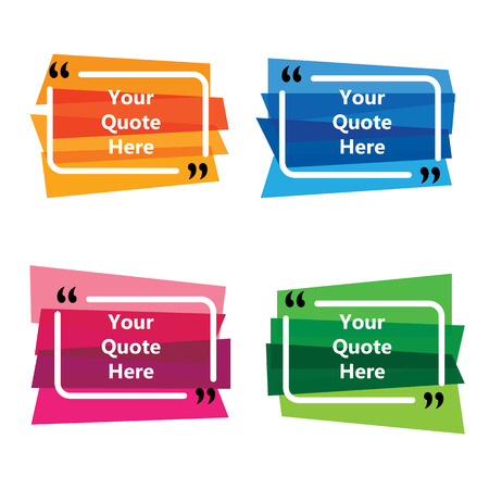 business communication quote templates - vector graphic collection set Ilustrace