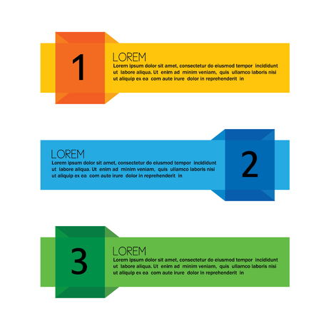 business infographic numbered banners - vector graphic collection set