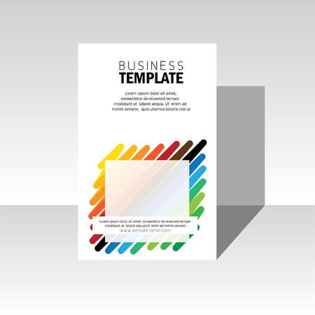business brochure, leaflet, poster template vector. stock-