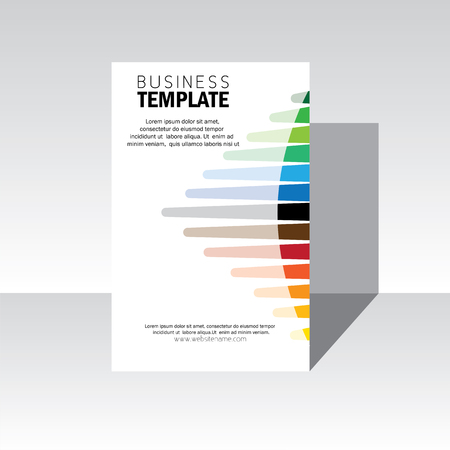 business brochure design cover - vector template.