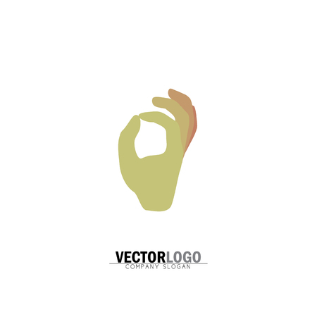 hand or palm of a person with ok sign - vector icon. this graphic can be representative of acceptance, agreement, gesture showing good quality, approval, etc