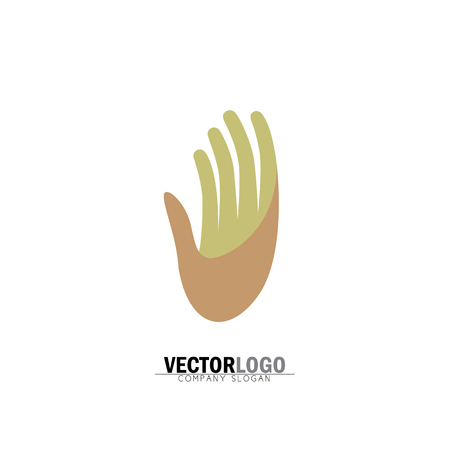 hand or palm of a person - vector icon. this graphic can be representative of stop sign, waving of hand, greeting hi or hello