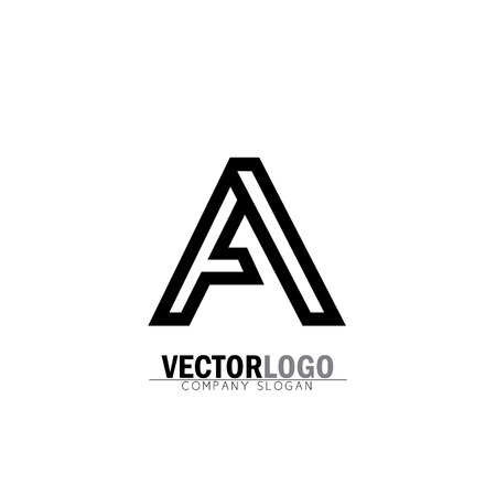 vector logo design icon of creative line alphabet symbol of letter A