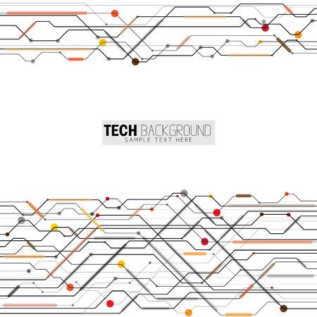 illustration vectorielle fond abstrait carte de circuit futuriste. représente également le concept de technologie numérique informatique Hi-Tech pour votre conception sur fond blanc