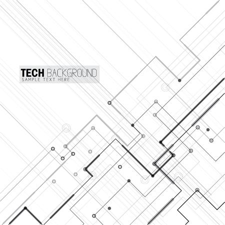 Vector illustratie abstracte futuristische printplaat achtergrond. Vertegenwoordigt ook hi-tech computer digitale technologie concept voor uw ontwerp op een witte achtergrond Stock Illustratie