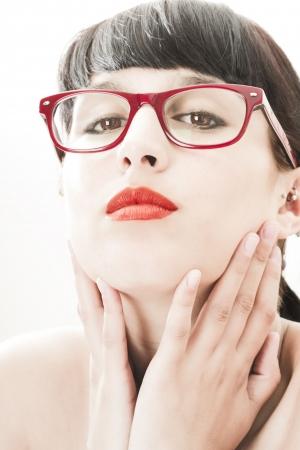highkey: High-Key Portrait of a beautiful brunette