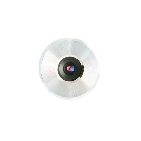Vooraanzicht van een webcamera geïsoleerd op wit Stockfoto