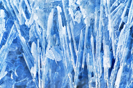 Ice texture with crystals in the shape of needles. Can be used for Christmas backgrounds