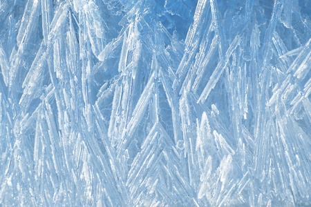 Natural ice texture with the needle-shape crystals