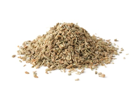 Pile of anise spice isolated on white background Standard-Bild