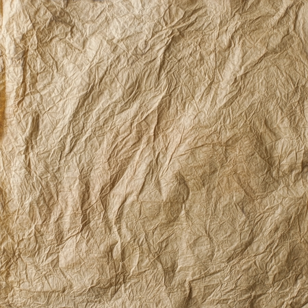 Grunge aged crumpled paper texture Stock Photo